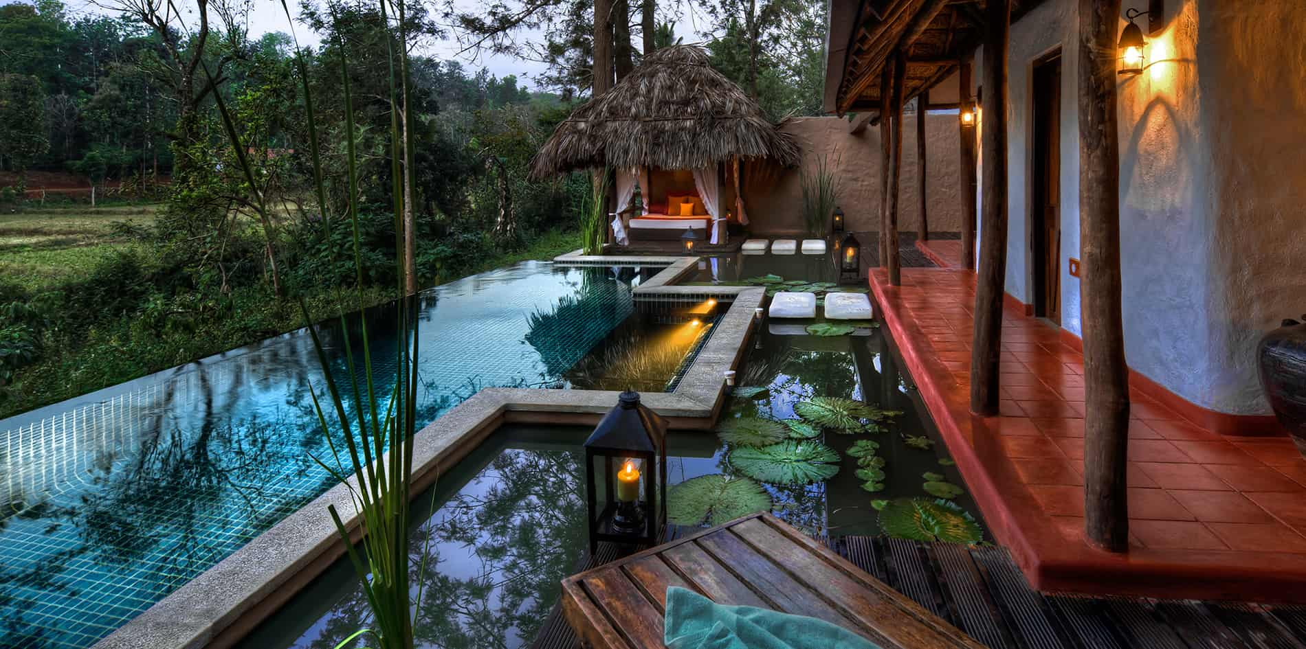 Family pool in Coorg, Orange County Resorts