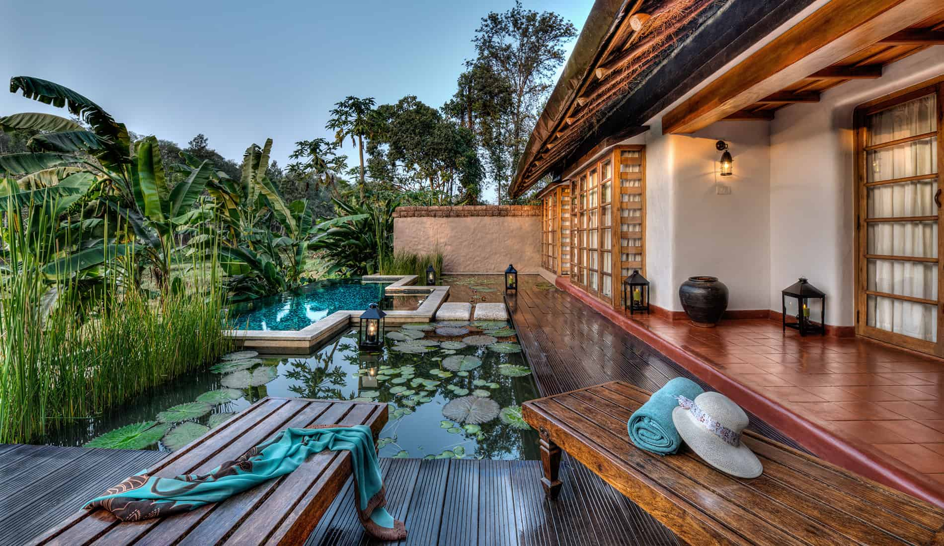 Lily Pool Bungalow, Courtyard, Coorg, Orange County Resorts