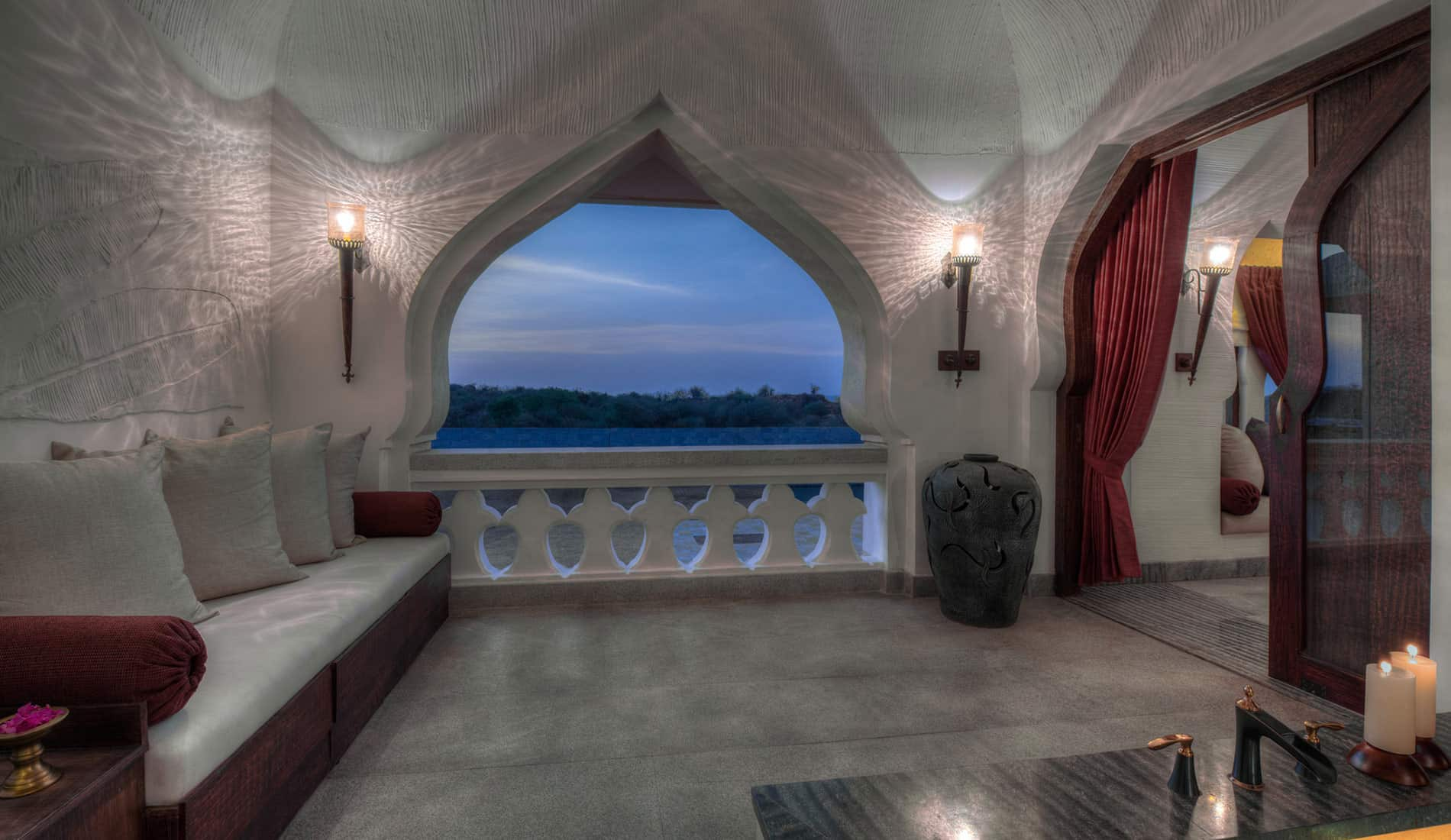 Nivasa - Balcony, Hampi | Orange County Resort