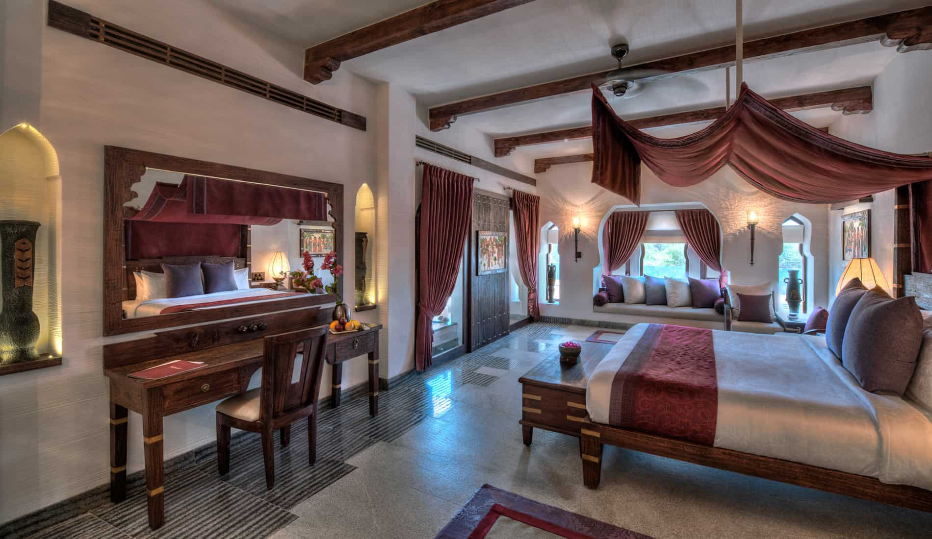 Nivasa - Bedroom, Hampi | Orange County Resorts